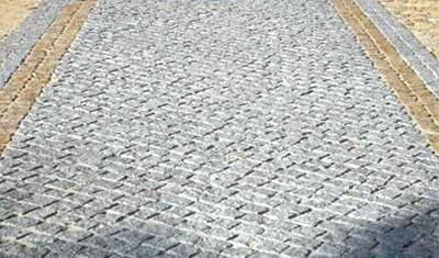 Pose de pave granite